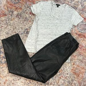 High Rise Leather pants (size 8) vintage